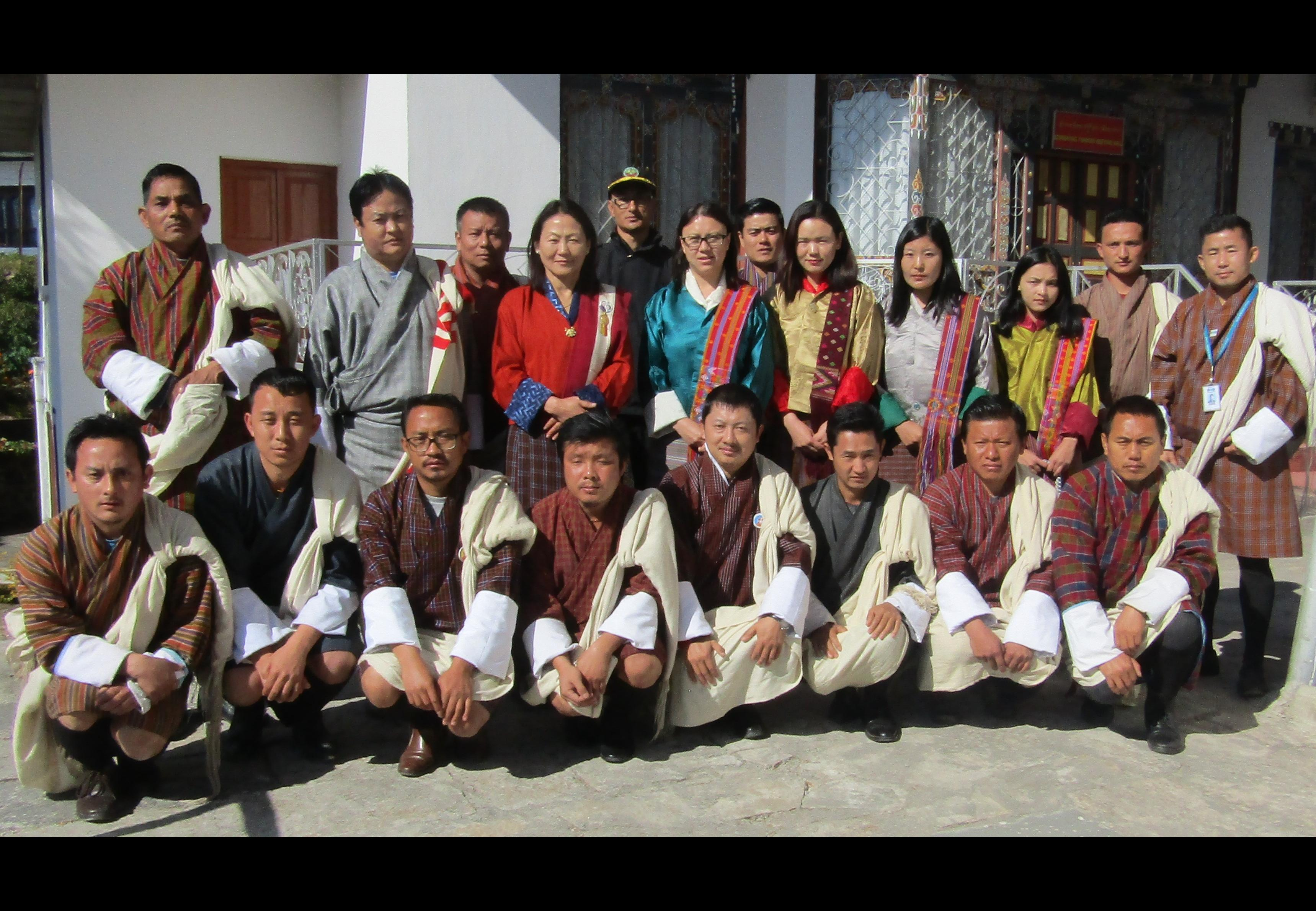 RMA officials with the Dzongkhag PSL Committee